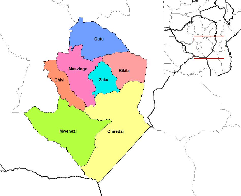 Map Of Zimbabwe Masvingo