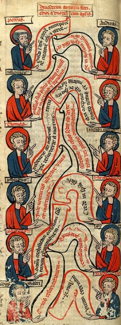 13th-century rubric of the Apostles' Creed