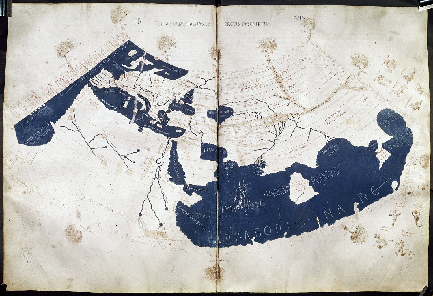 Dragons tail petros jordan 15th century reproduction of ptolemys world map from his geographia showing the closed off indian ocean via wikipedia gumiabroncs Image collections