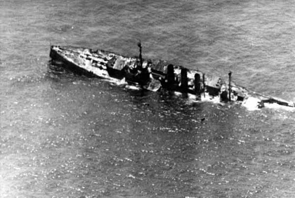 Sinking of the SMS Ostfriesland