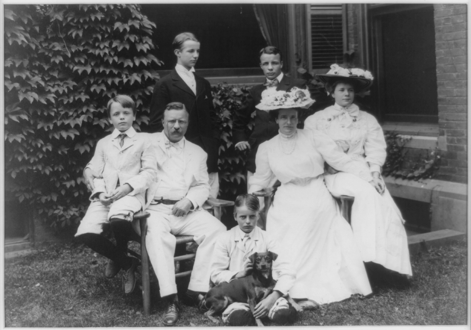 English: Mr. and Mrs. Theodore Roosevelt with ...