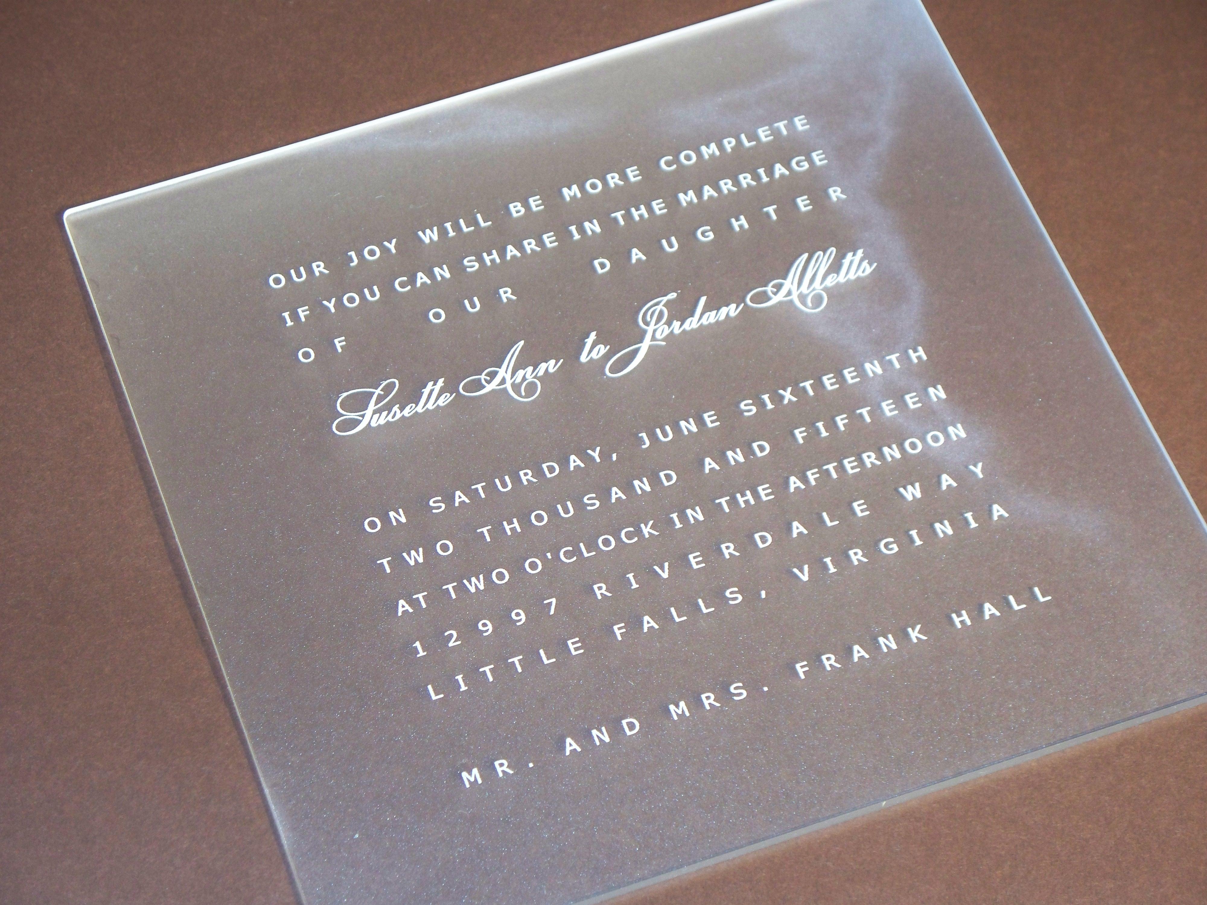 Cut Paper Wedding Invitations