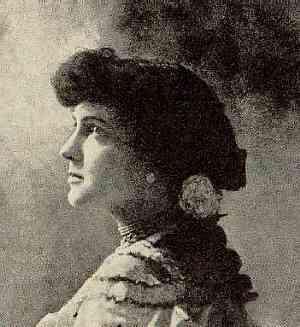 The poet Delmira Agustini.