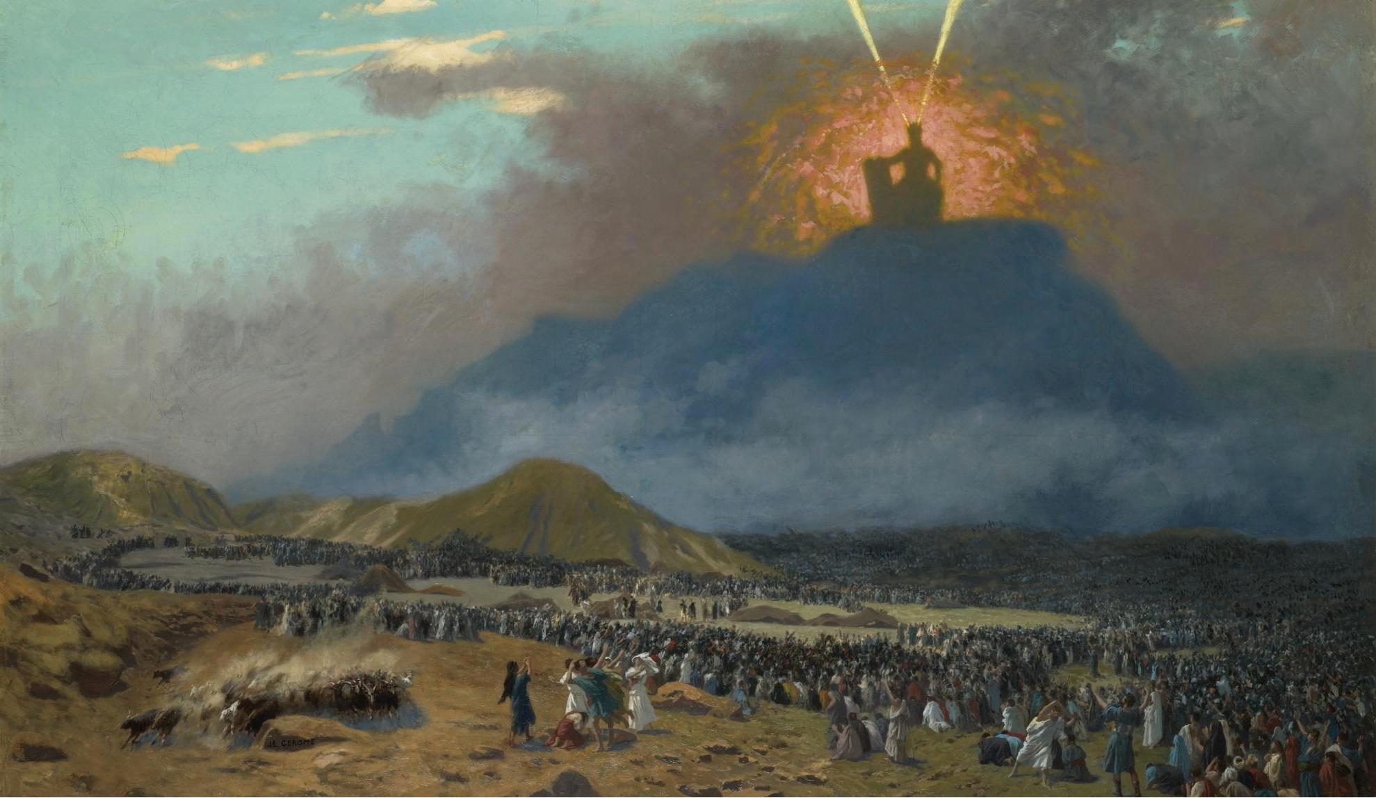 Moses on Mount Sinai, Jean-Léon Gérôme, 1895–1900.