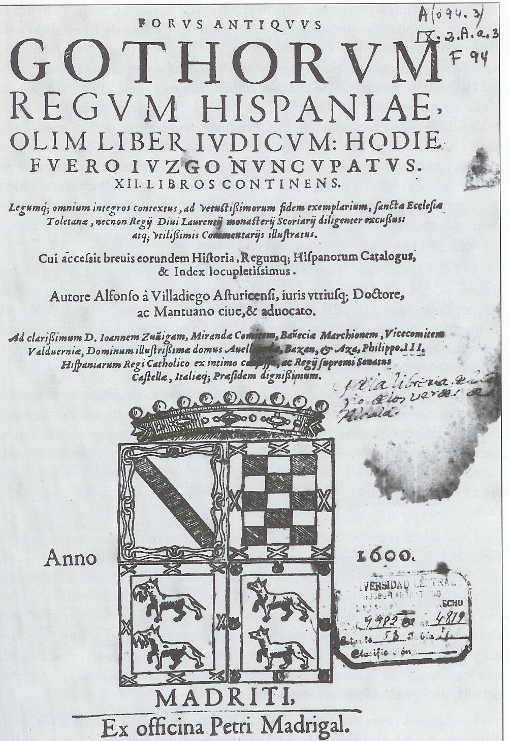 Title page of a 1600 edition of the Castilian version of the Book of Judges