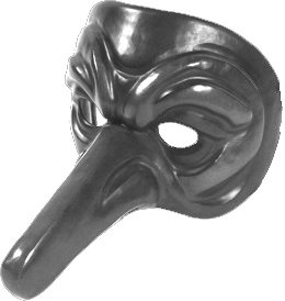 English: Commedia dell'arte mask Français : Ma...