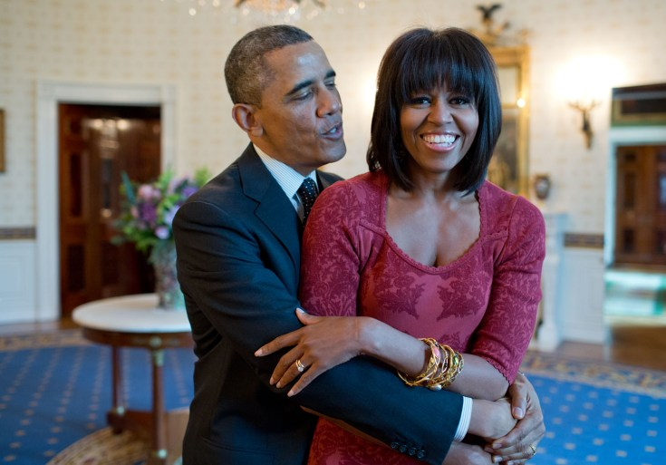 Michelle Obama and President Obama