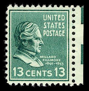 English: 1938 u.s. postage stamp of Millard Fi...