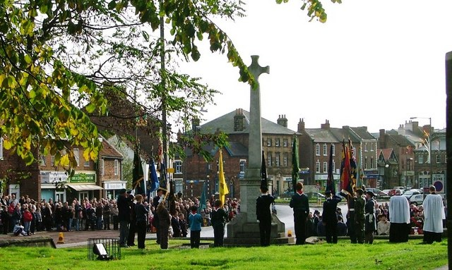 English: Service of Remembrance, Northallerton