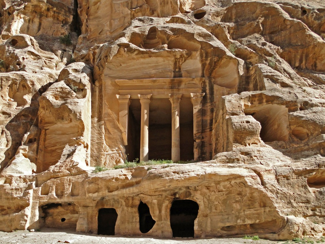 Visiting Little Petra, located north of Wadi Musa, is a miniature version of the famous city