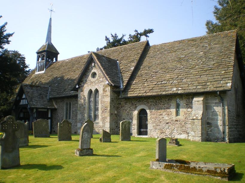 St Michael and All Angels' parish church, Woolstaston, Shropshire