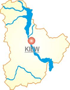 Ukraine Oblast Kiew Flüsse
