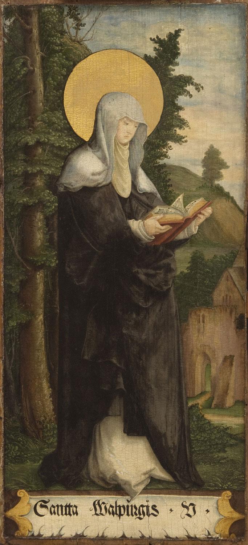 Die Heilige Walburga um um 1535/40, vom Meister von Messkirch, Public Domain