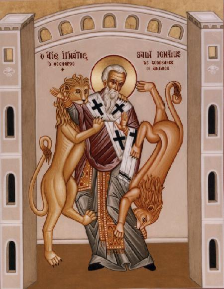 Icon of the martyrdom Saint Ignatius