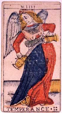 English: An original card from the tarot deck ...