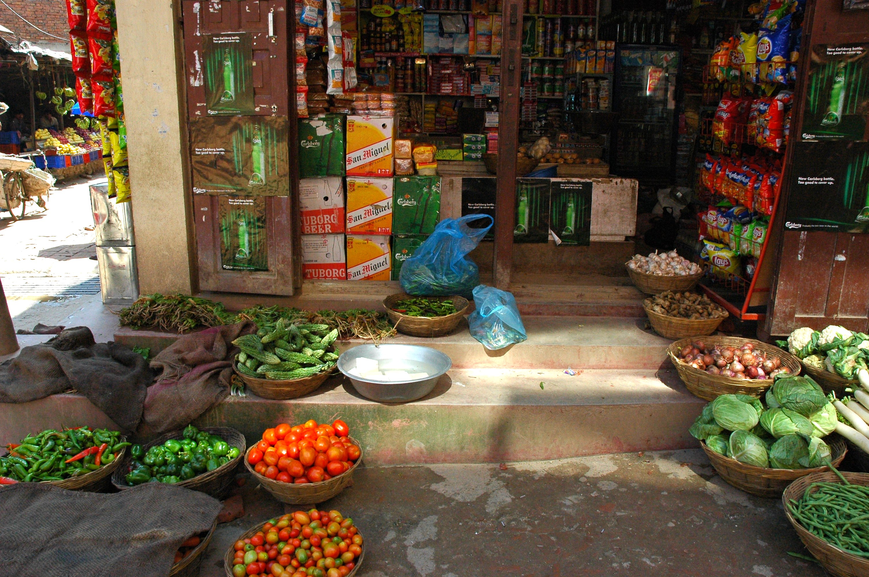 Grocery store in Nepal