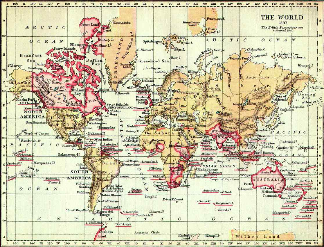 English: The World in 1897.
