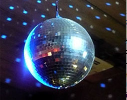 Disco ball in blue