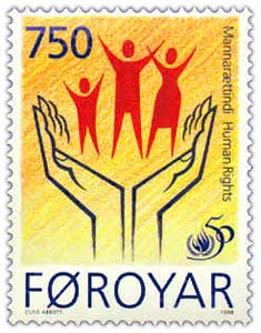 This 1998 stamp of the Faroe Islands marks the...