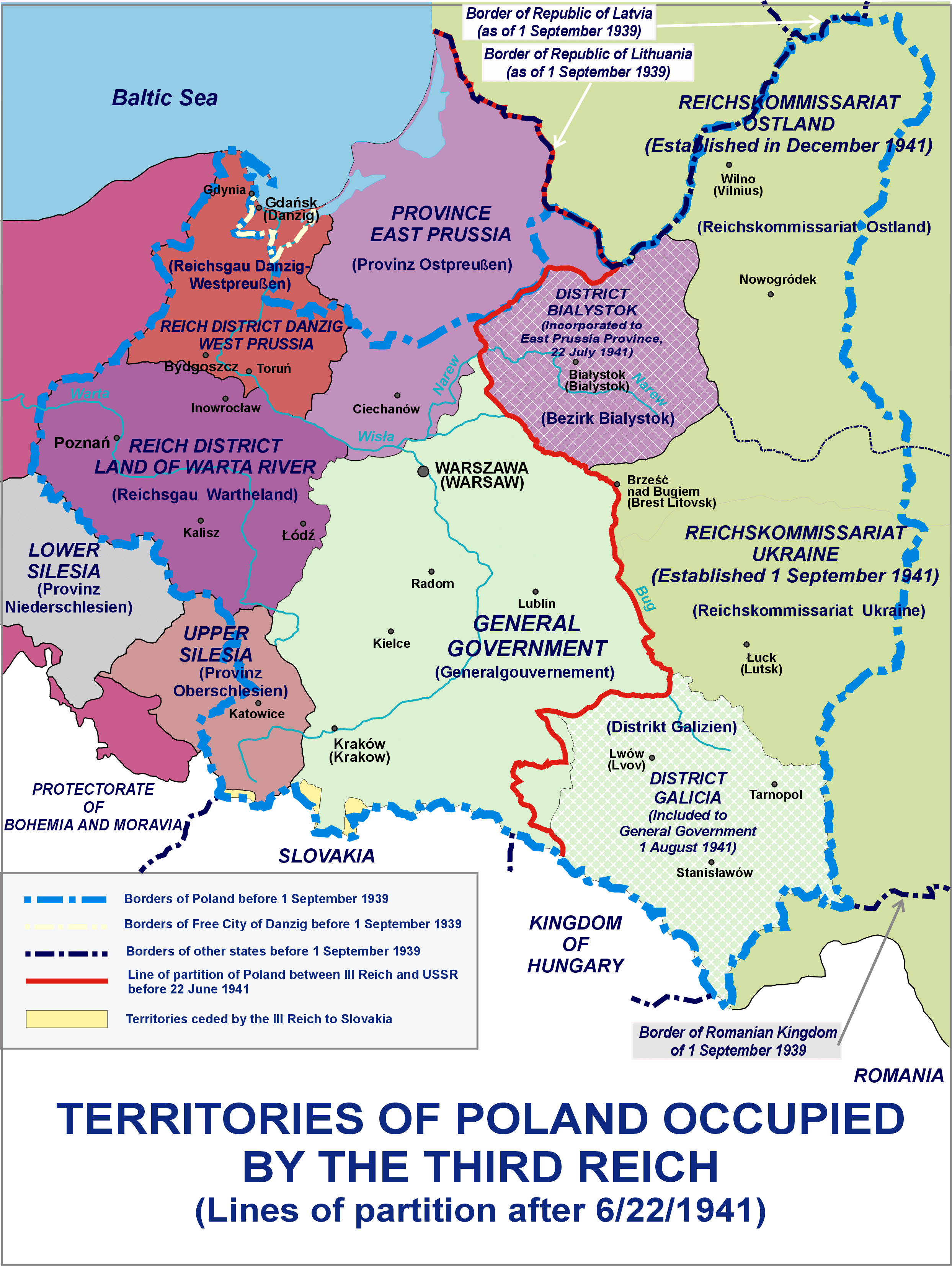Administrative Division Of Polish Territories During World War Ii