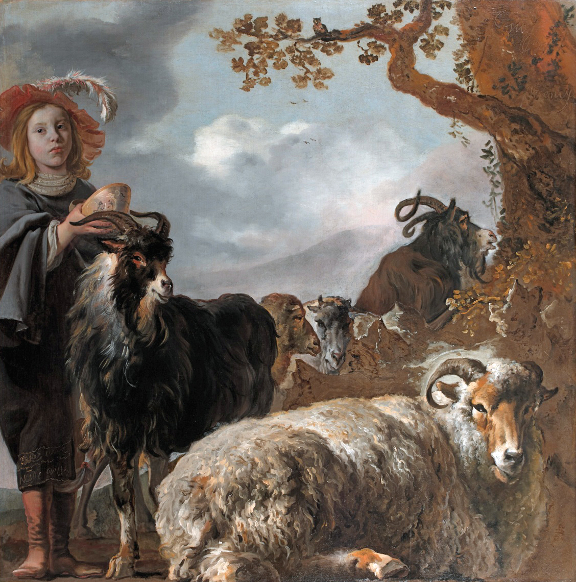 File Shepherds Boy With Sheep And Goats By Jan Baptist