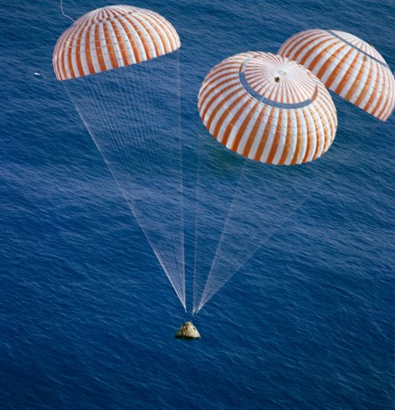 Image result for Apollo 11 in the water