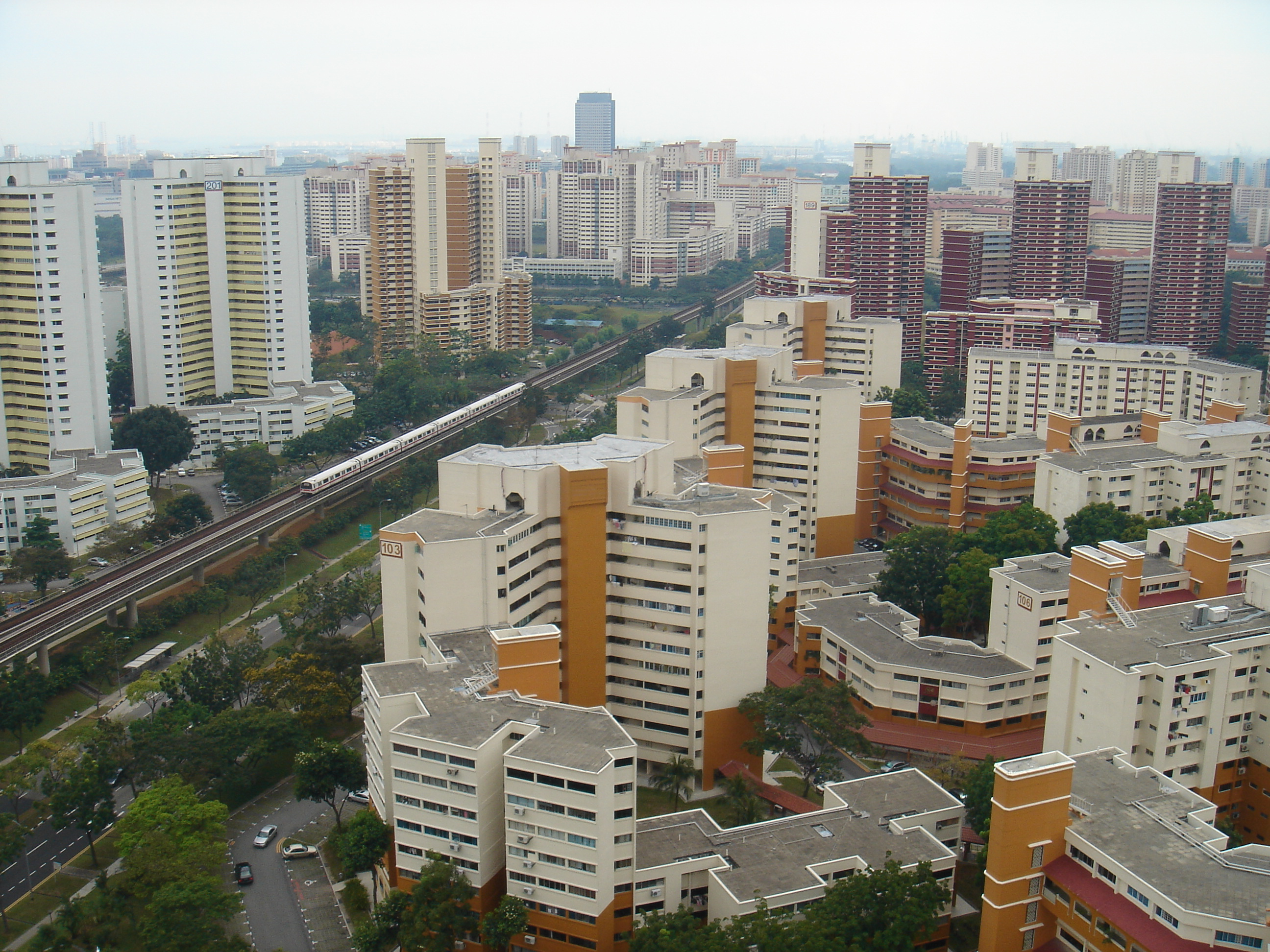 The construction of new towns by the Housing Development Board of Singapore, is an example of planned urbanization