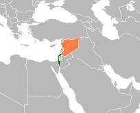 English: Israel-Syria locator