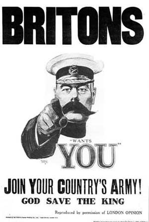English: Original Kitchener World War I Recrui...