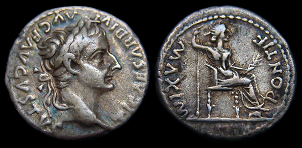 An image of the denarius from the time of Emperor TIberius is available from wikipedia