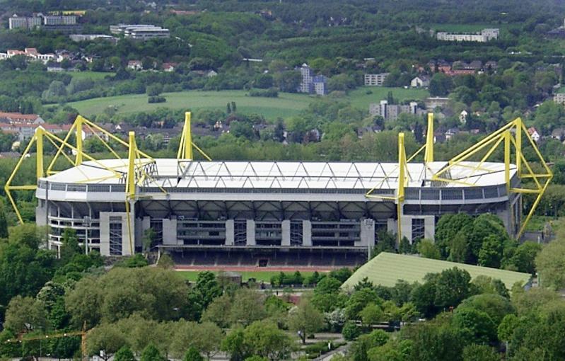 Westfalenstadion, home to Borussia Dortmund, h...