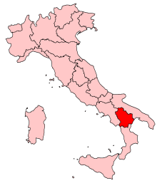 Location of Basilicata in Italy