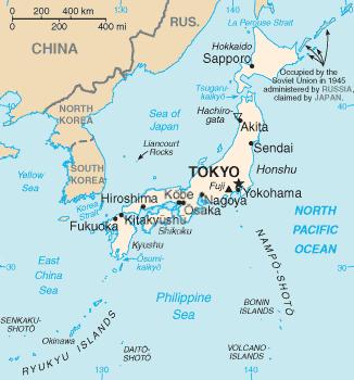 Mapa de Japon