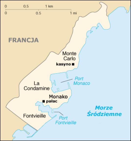 Mapa Monako