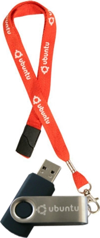 English: Ubuntu USB lanyard