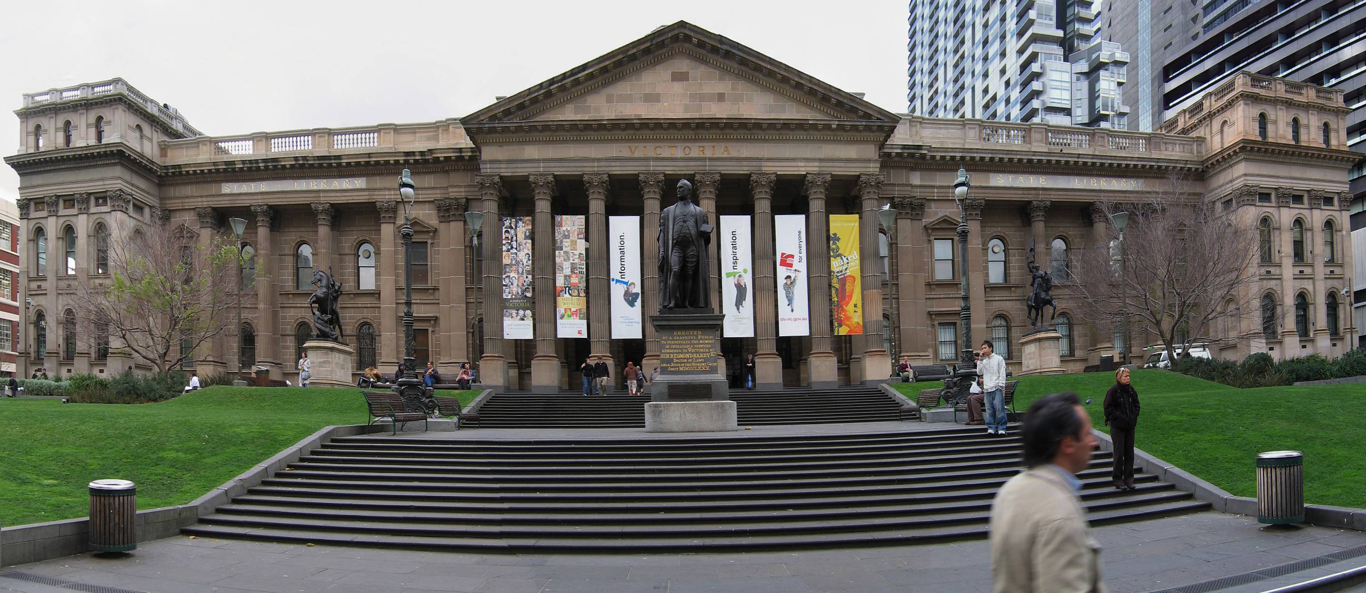 State Library of Victoria, vue de Swanson Street