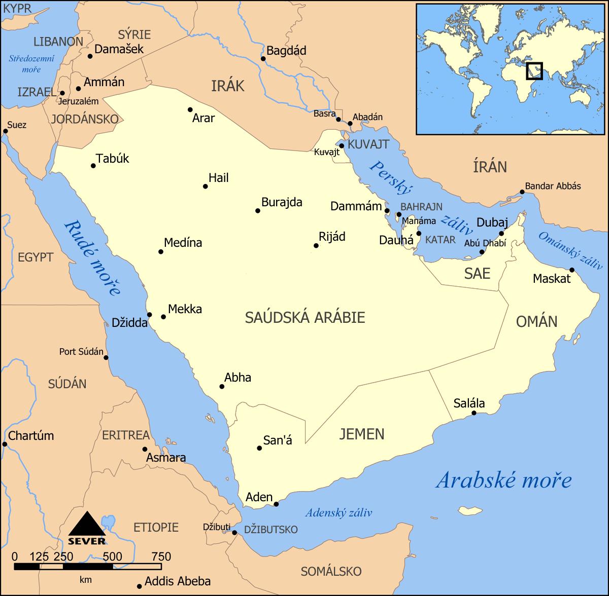 Political Map Of Arabian Peninsula