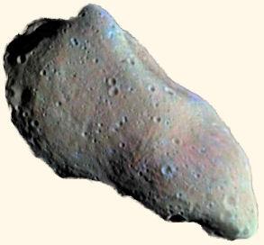 English: Asteroid on white background