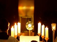 Adoration of the Blessed Sacrament, t...