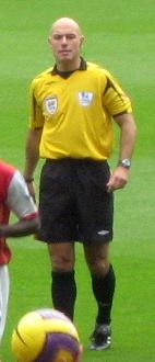 English football (soccer) referee Howard Webb