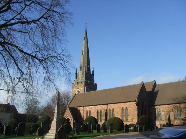 St Benedict Biscop parish church, Wombourne