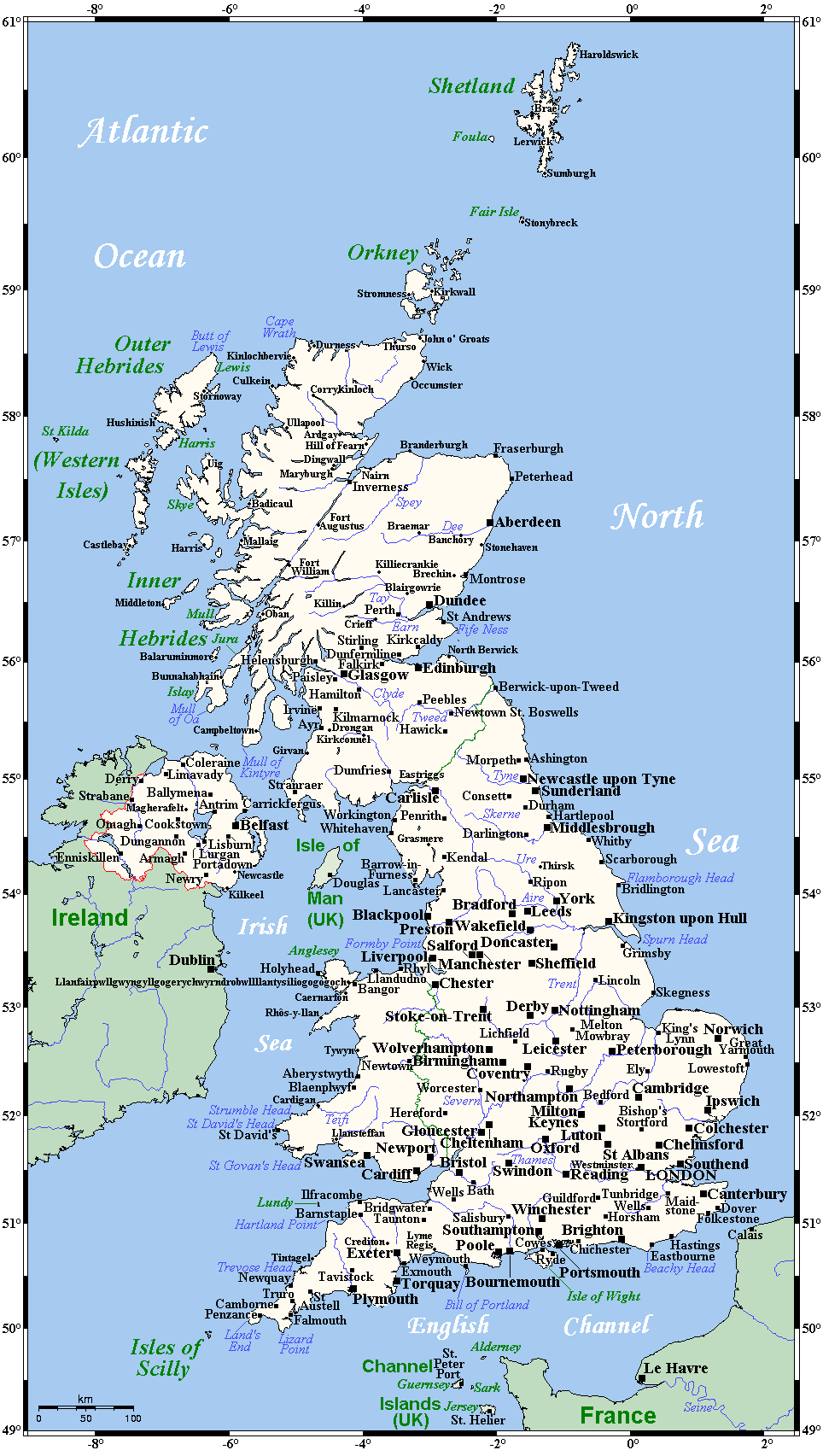 Map Of England With Towns Cities And Villages.Map England Towns Cities And Villages