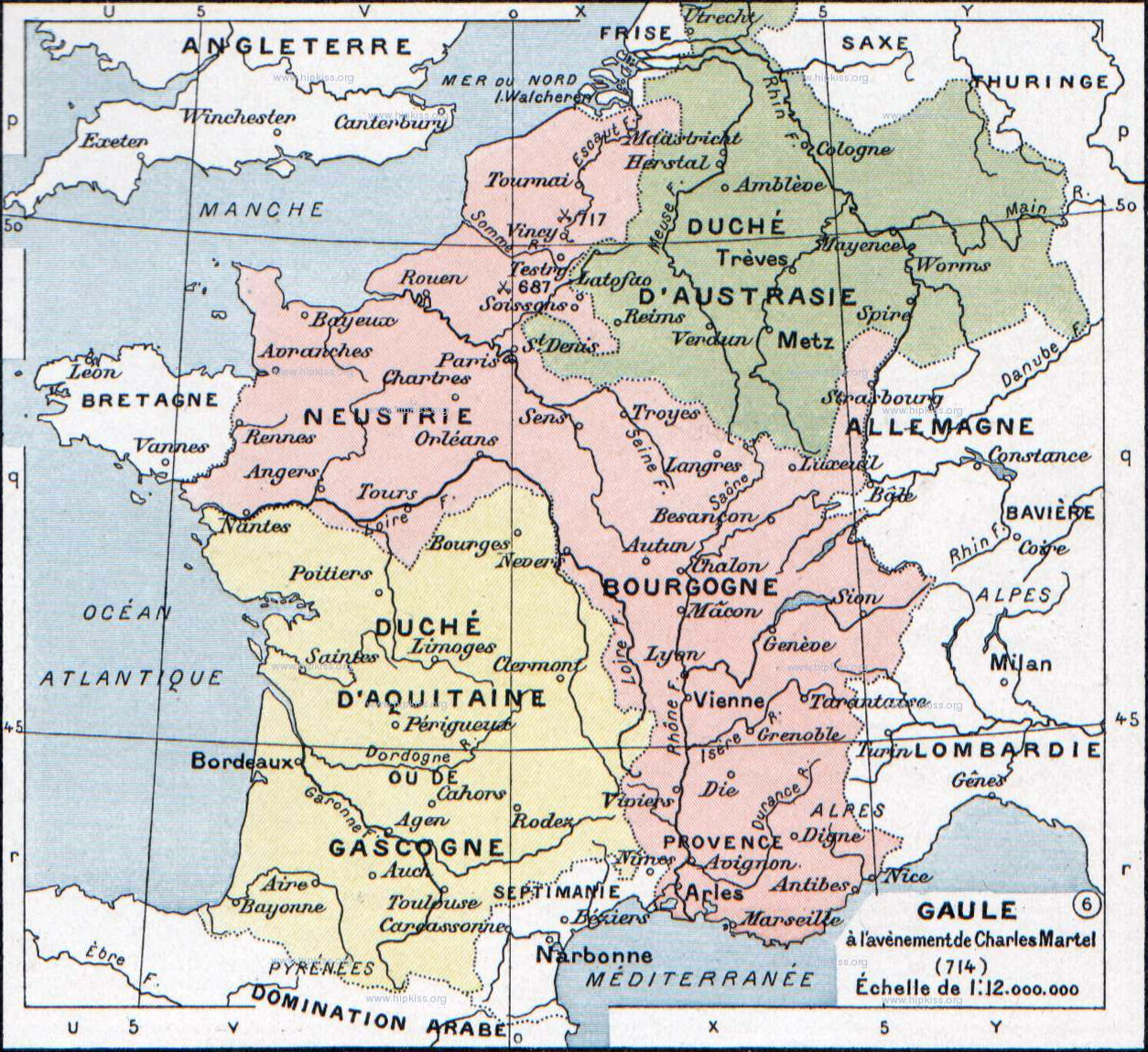 Map of Frankish territiories