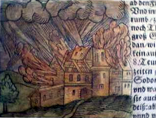 The destruction of Sodom as illustrated by Seb...
