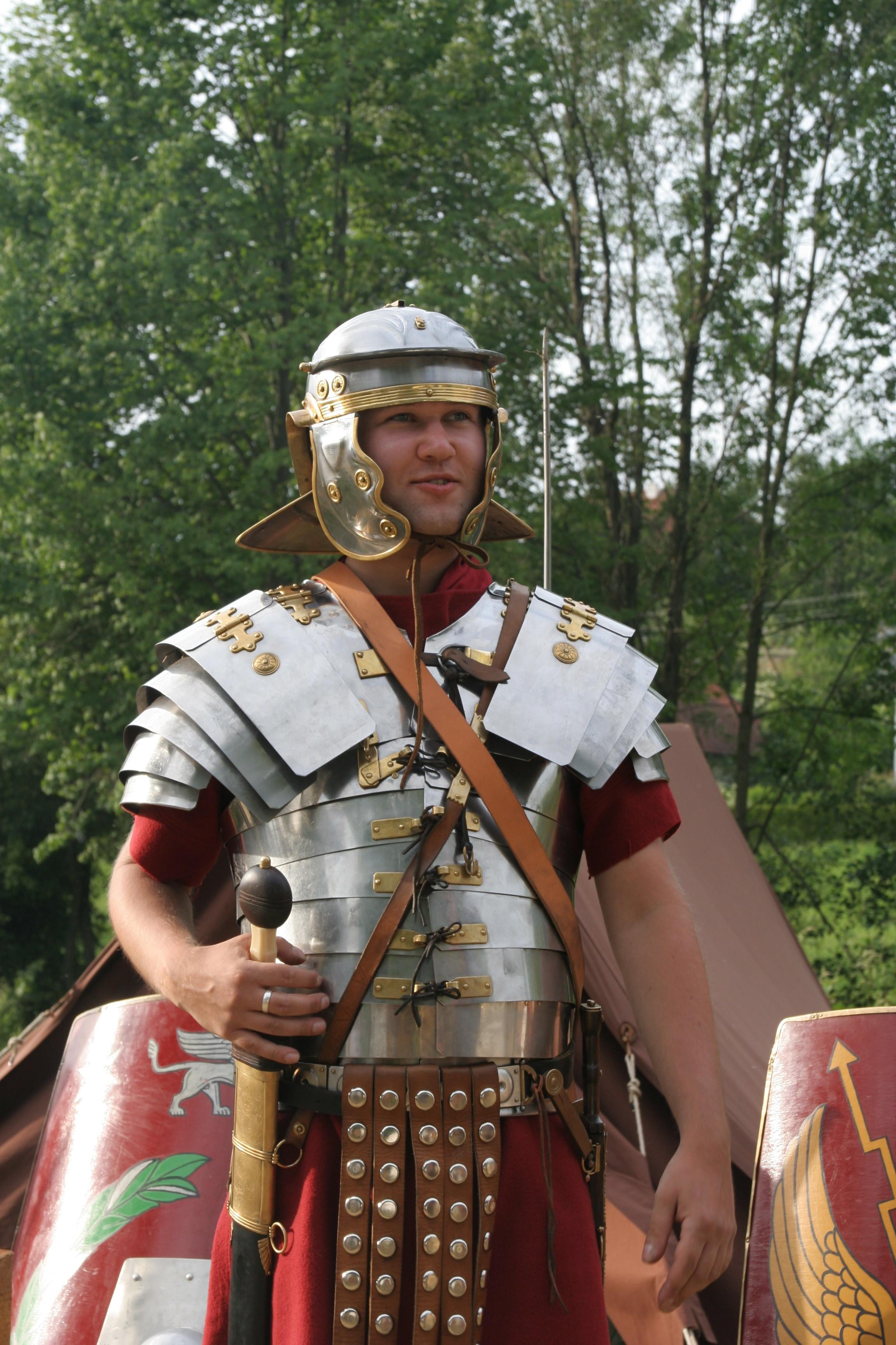 Roman soldier in lorica segmentata.