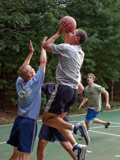 Image result for barack obama basketball