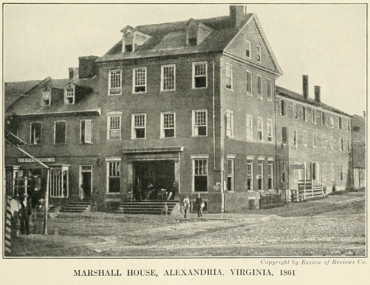 Alexandria city accidental history for Marshall house