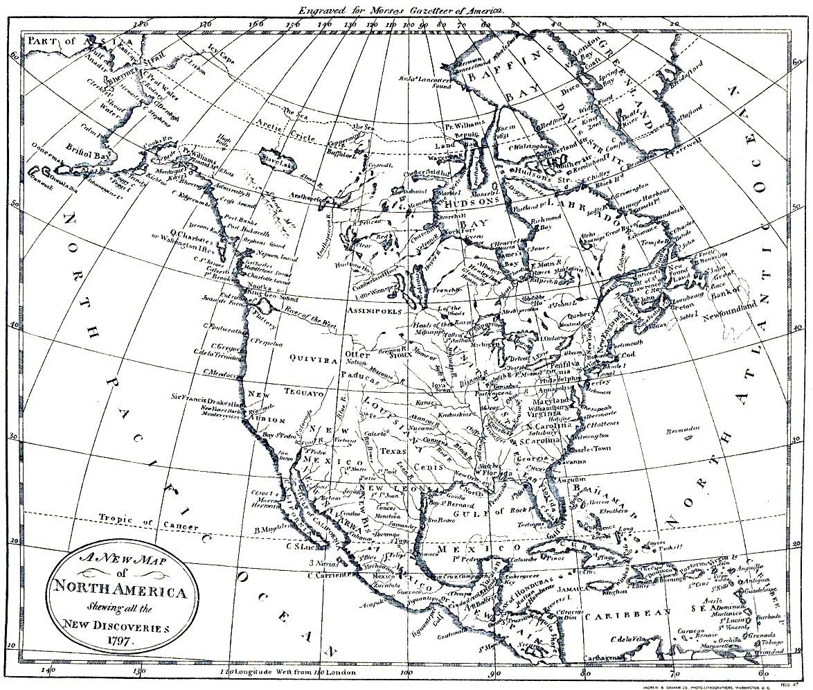 Todos Los Mapas Del Mundo Mapa Antiguo De Norteamerica De