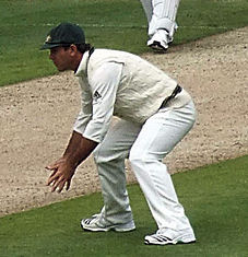 Ponting fielding during 2009 Ashes series