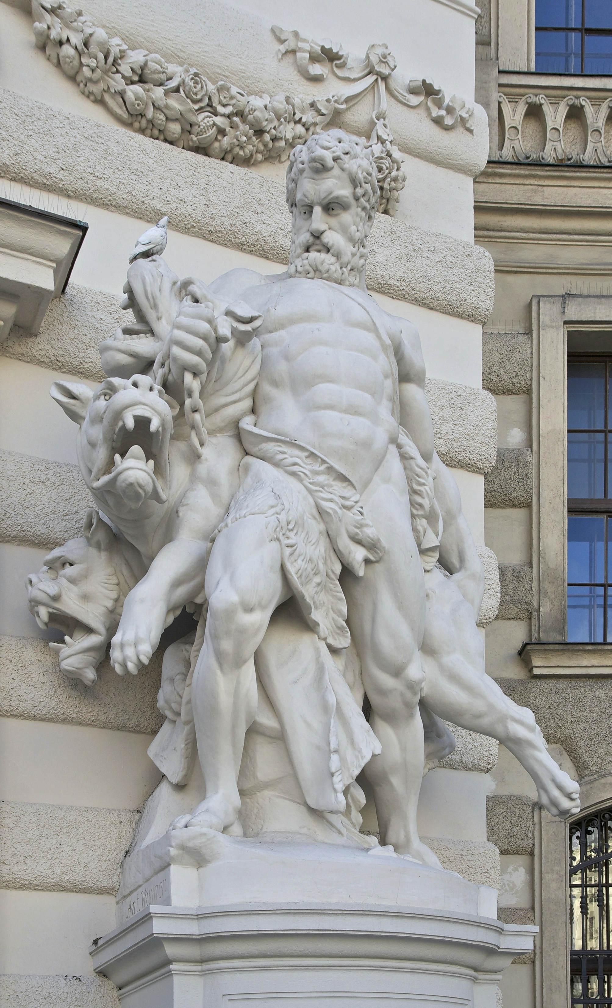 This Is A Sculputure Of Hercules And Cerberus This Was